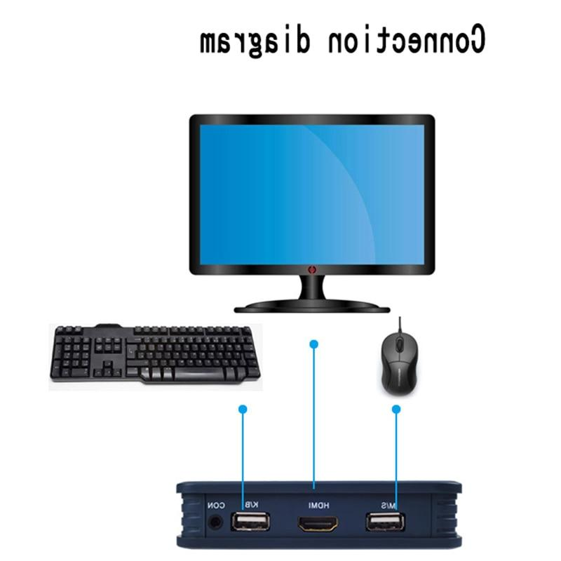 2 Port <font><b>KVM</b></font> Switcher Cable for Dual Keyboard Support