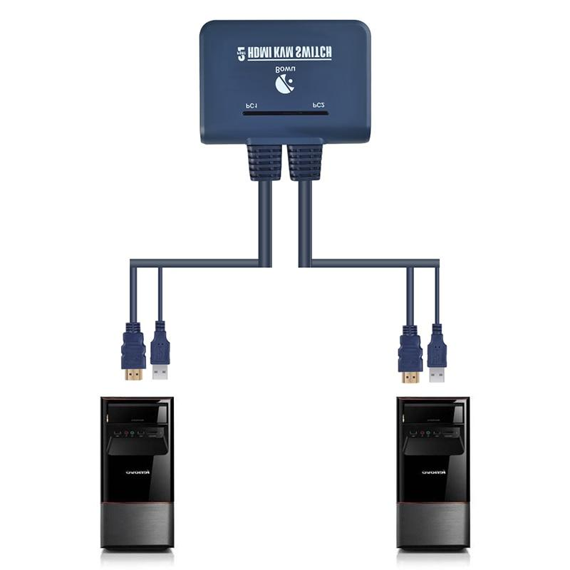 2 <font><b>KVM</b></font> Switcher Cable for Dual Keyboard <font><b>switch</b></font> Support