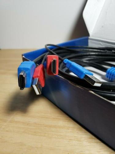 2 Port USB HDMI KVM Switcher Cable For Monitor Keyboard
