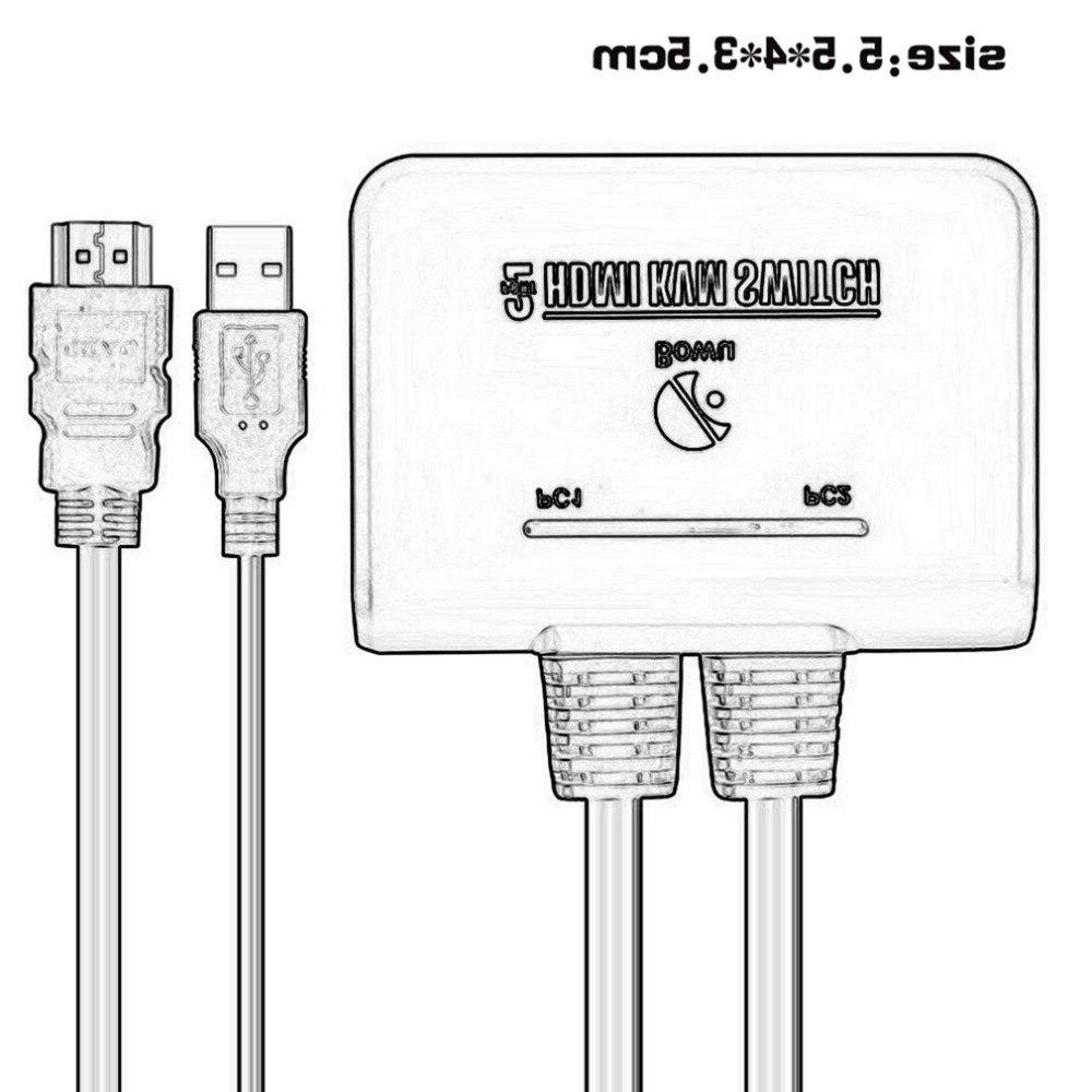 2 <font><b>Switch</b></font> Switcher Com Keyboard Mouse Support