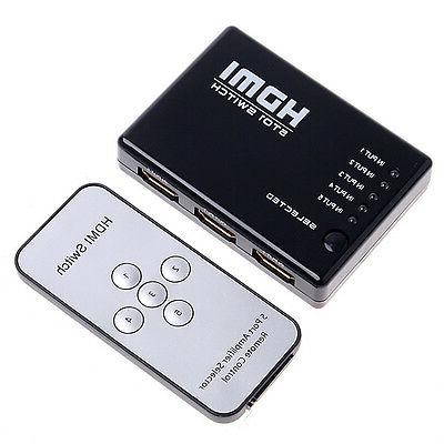 3 5 Switcher Hub+Remote 1080p For HDTV