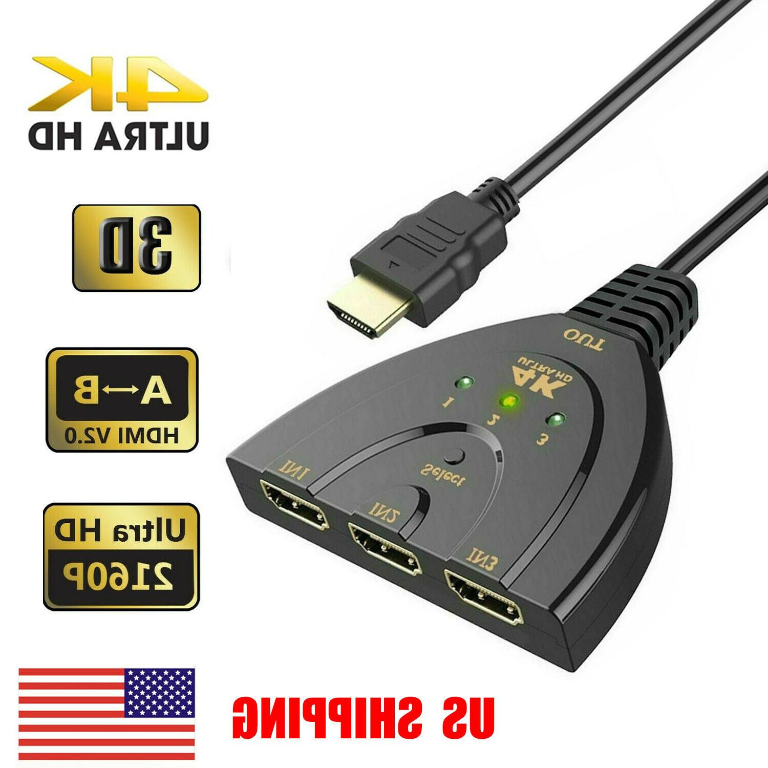 3 port 4k hdmi 2 0 cable