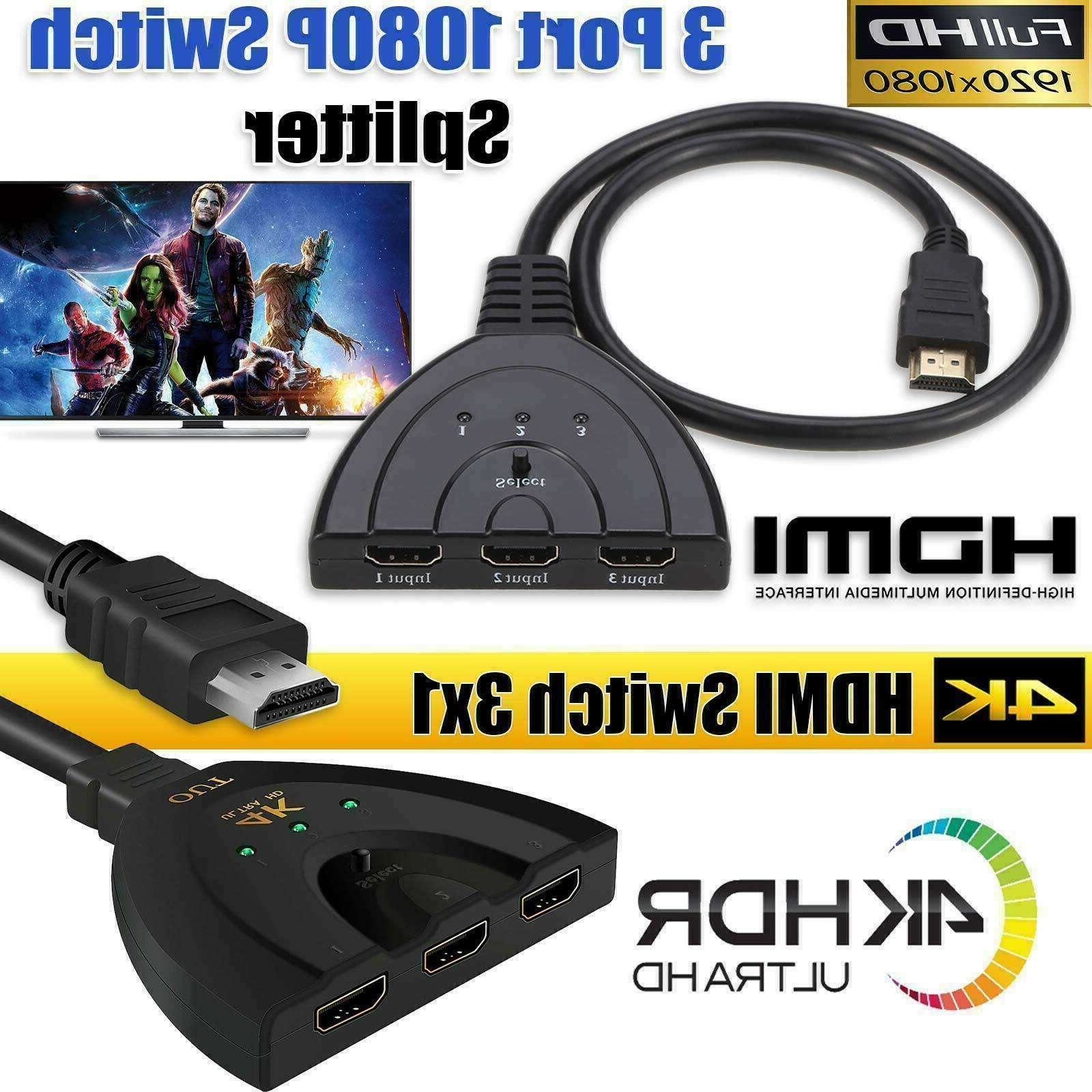 3 HDMI converter Auto 4K HDMI Switch Switcher PRO
