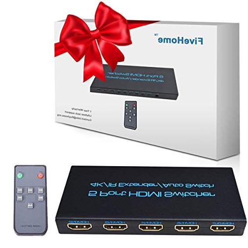 4K@30Hz HDMI FiveHome 5 Switcher Support 1.4,Full