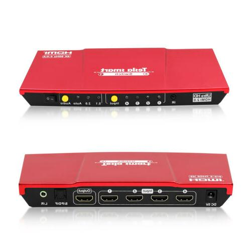4 port hdmi switch switches box audio