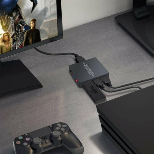HDMI Switch HDMI Switcher with PIP Function HDMI Hub In 1 Out Remote