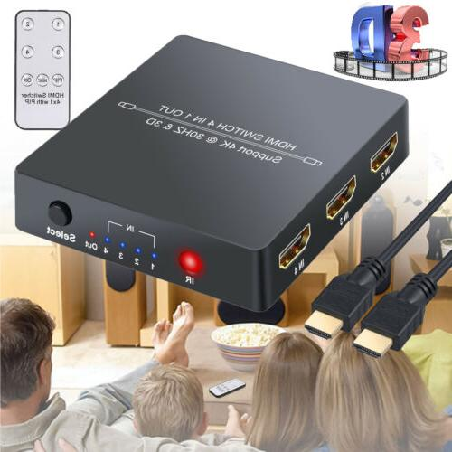 4 port hdmi switcher with pip function