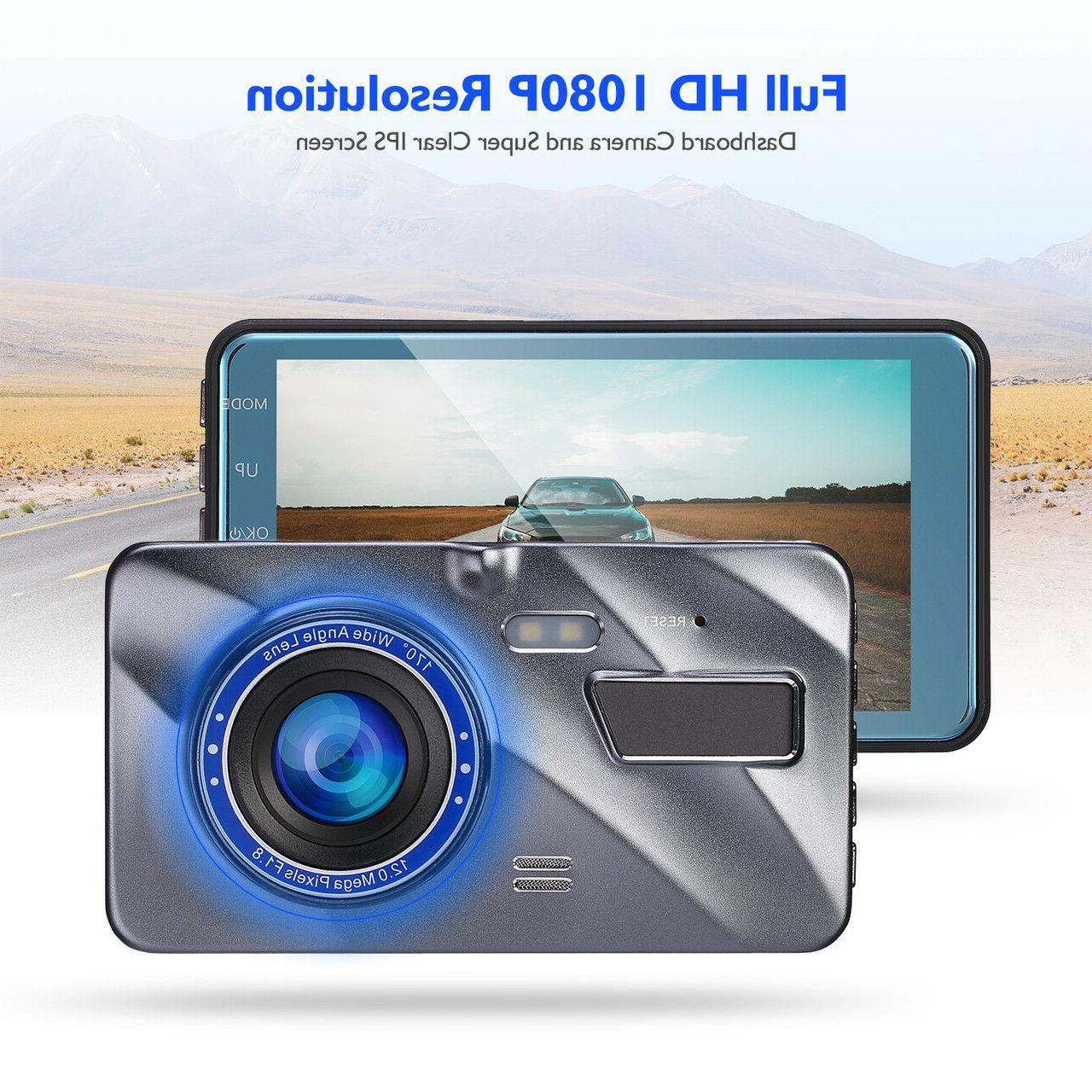 """4""""HD Lens Touch Dash Cam Camera Kit"""