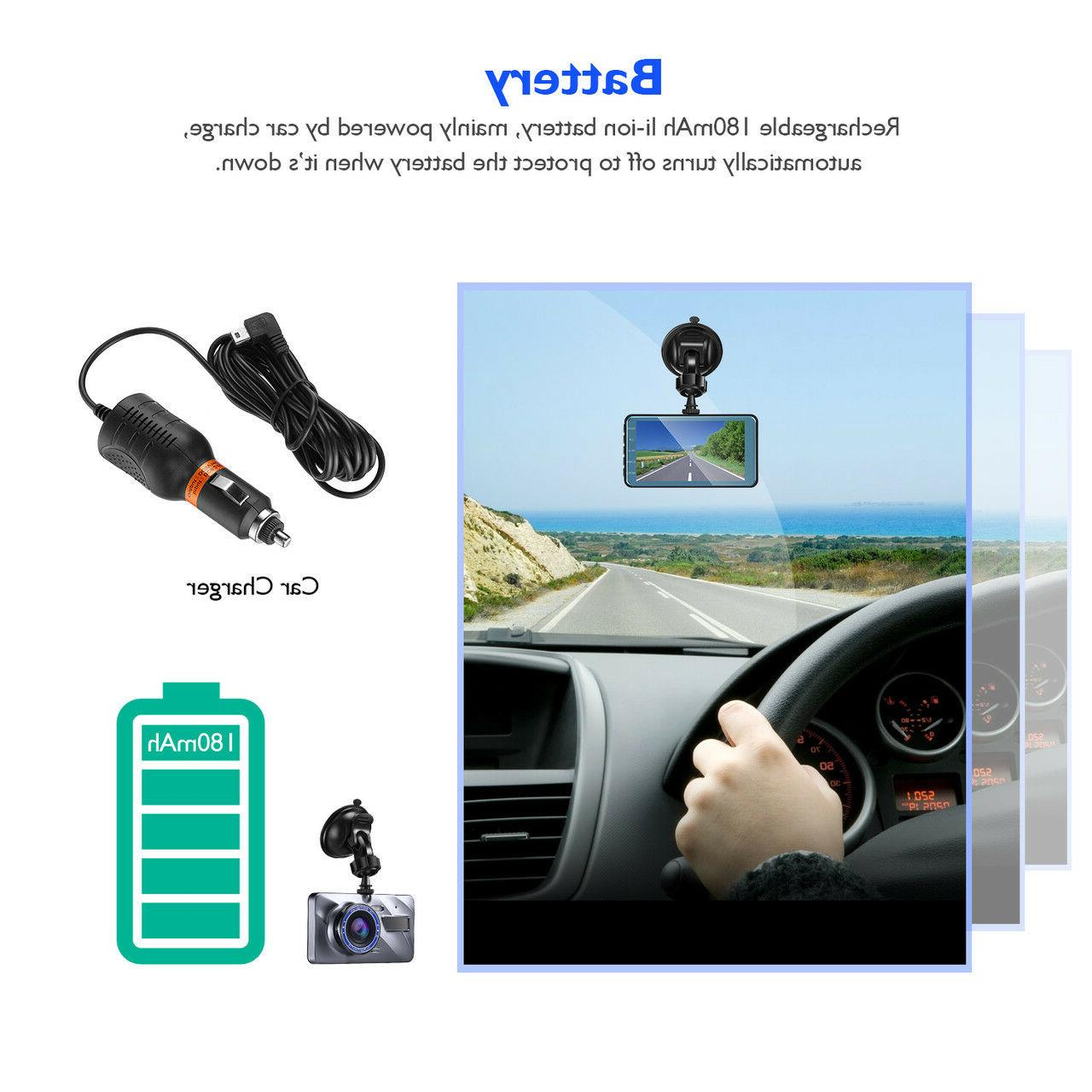 Touch Screen Dash Cam Recorder+Rear View Camera Kit