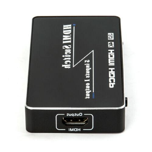 4K 1080p 5 HDMI Switch Selector Splitter Hub Remote For HDTV