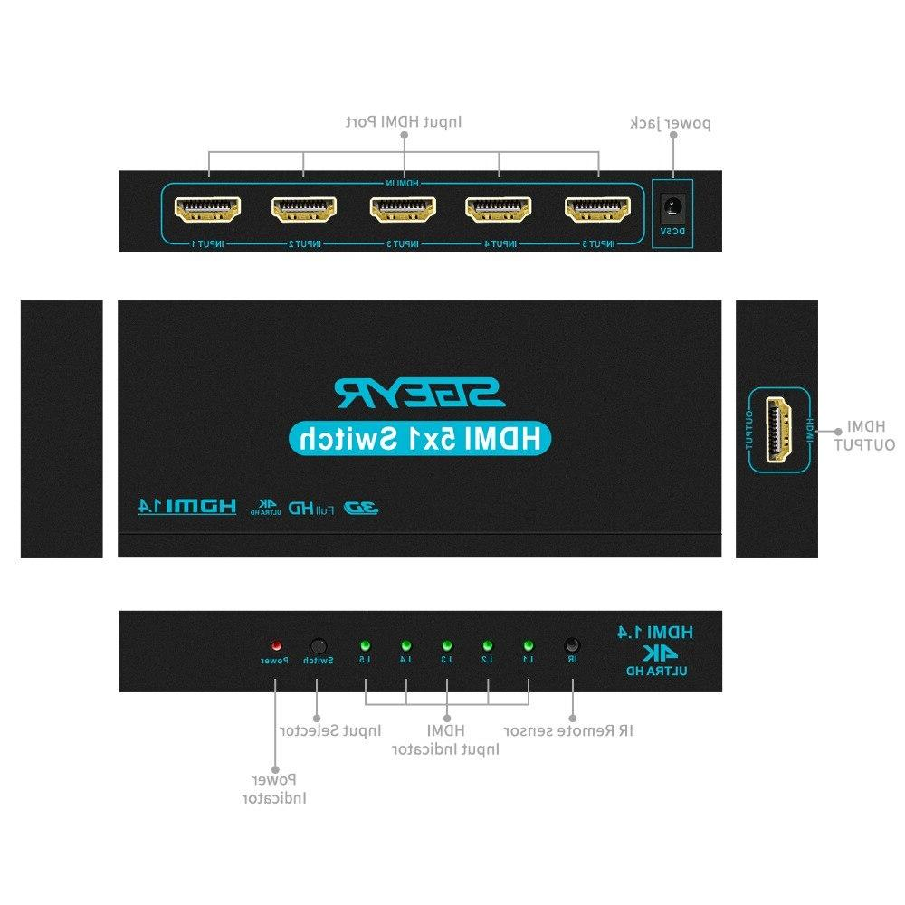 4K <font><b>Switch</b></font> In Switcher 5 HD 1 PS3 with