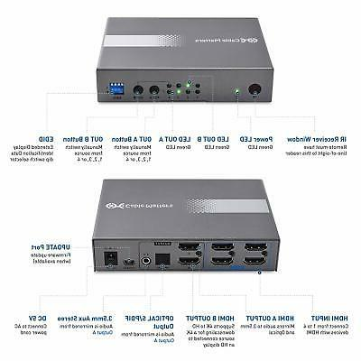 Cable 4K HDMI in Support 18Gbps 2.0...