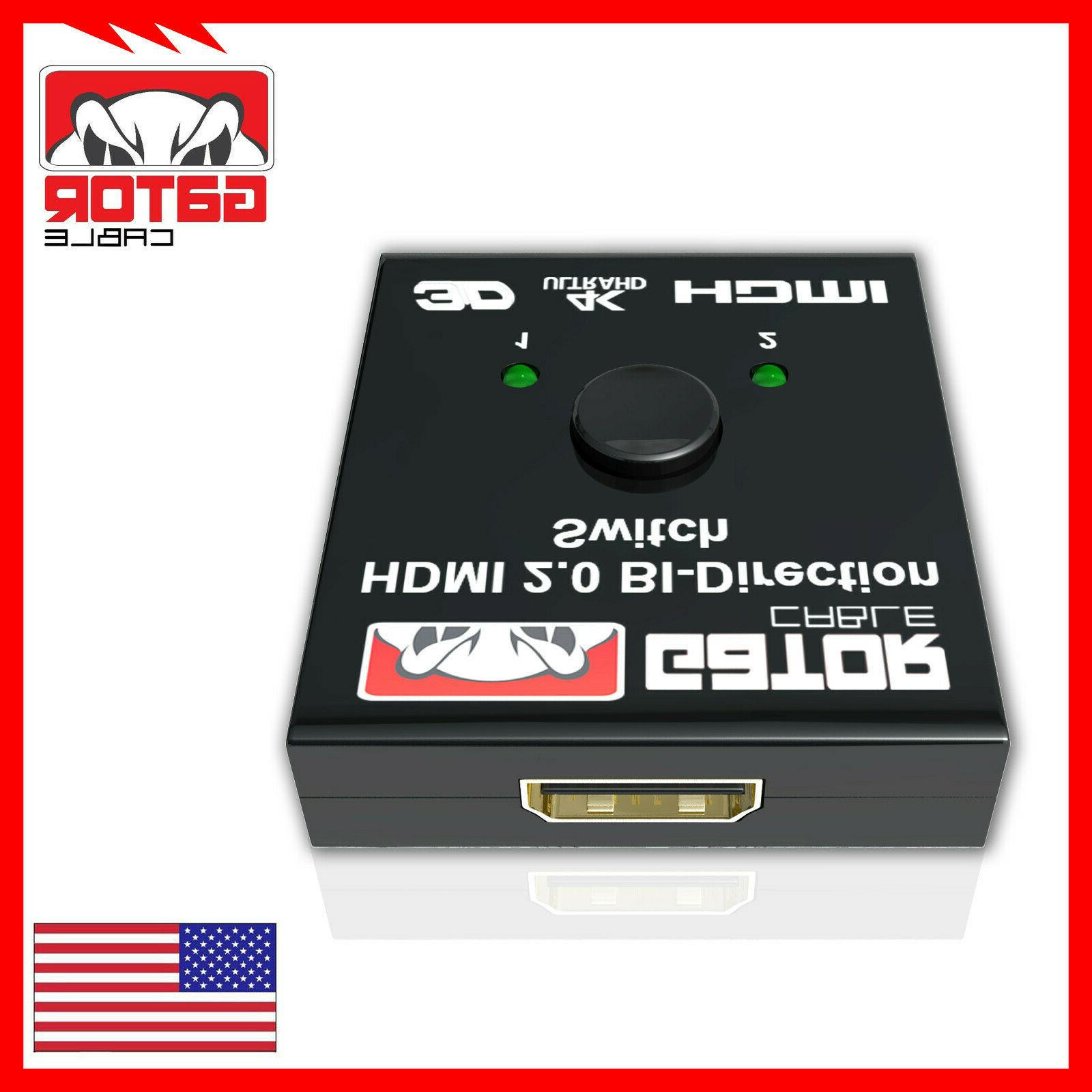 4K HDMI Cable Switch Hub In