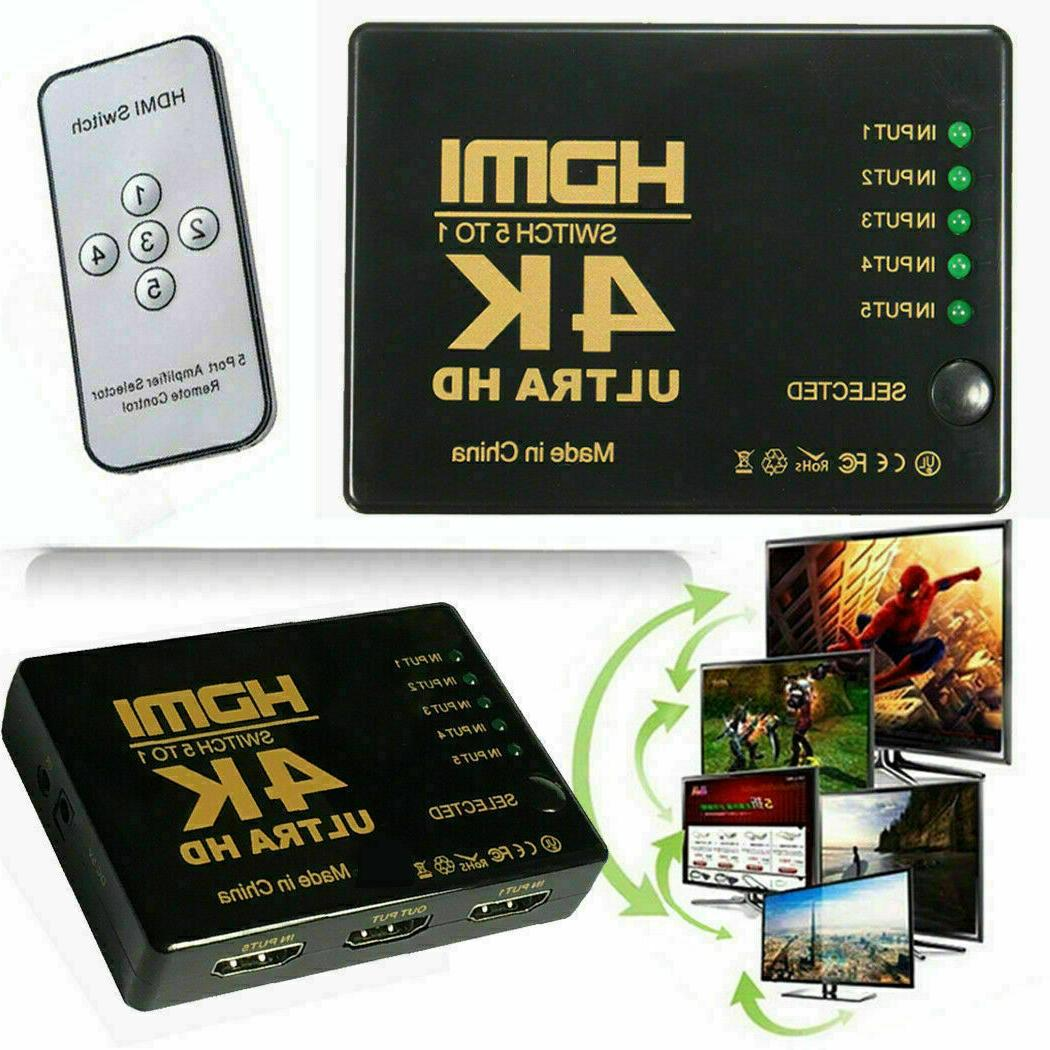 4k hdmi 2 0 cable splitter switch