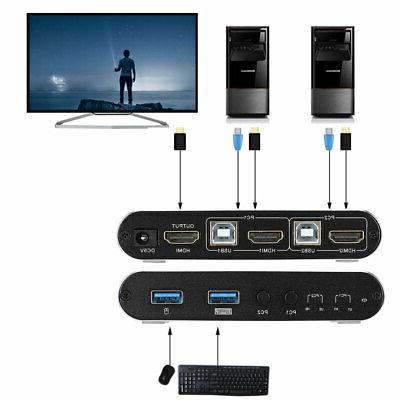 4K HDMI Switcher Selector 2 Audio Composite Adapter