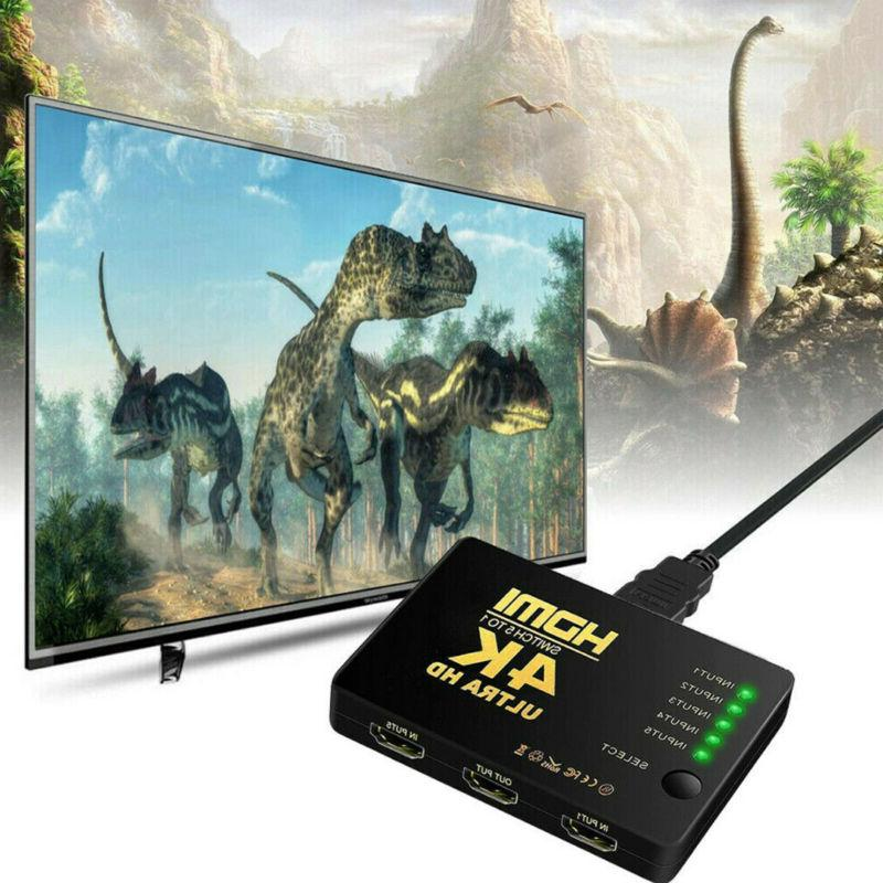 5 1 Splitter Switcher 4K HD 3D Remote