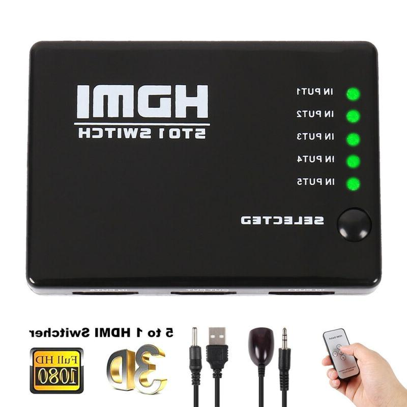 5 port 4k uhd hdmi switcher switch