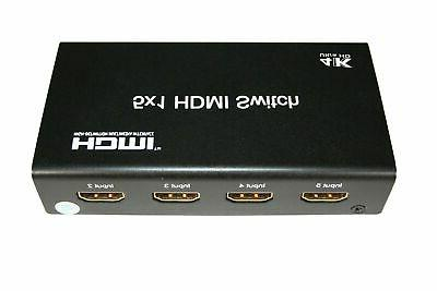 5 Port Switch with IR Remote 3D