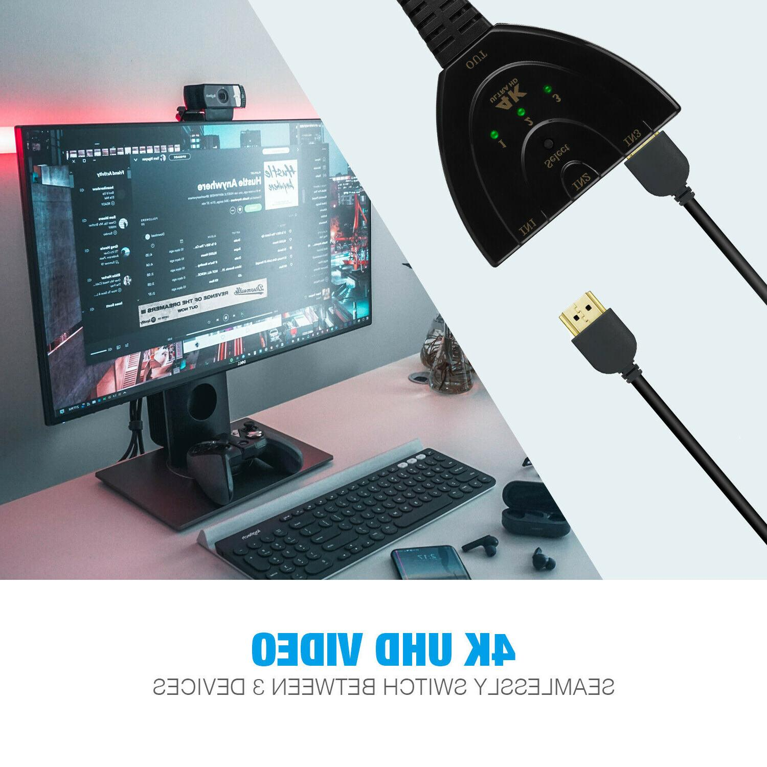 Switcher HUB Cable 4k For