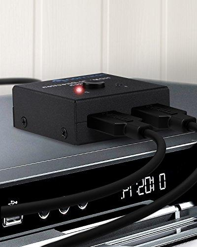 Fosmon or 2 Ultra HD 4K@60Hz HDMI Switch Bi-Directional for HDTV, Blu-Ray, DVD, Satellite, and More 3D