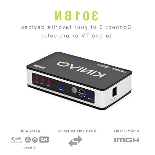 Kinivo HDMI Premium 3 Port Remote & AC Adapter