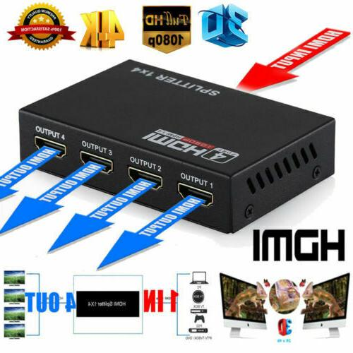 1X2 HD Amplifier Repeater 3D Switch Box