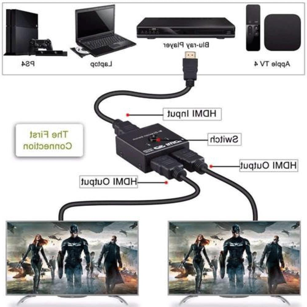 HDMI 2.0 HDTV Switch Switcher Splitter Hub HDCP Out