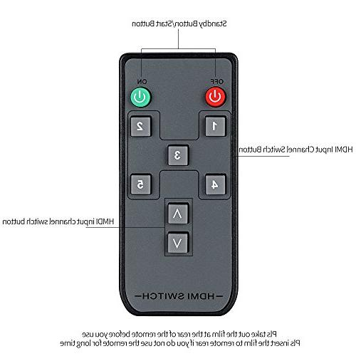 4K@60Hz Awakelion 1 Out 2.0 Switcher with Support