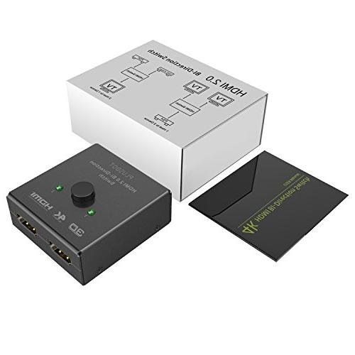 PlusDot 2-in-1 HDMI 2.0, Supports 4K/3D/1080/HDCP Passthrough, Maximum Compatibility