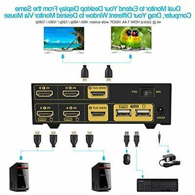 HDMI Switch Extended Display, USB In Out PC