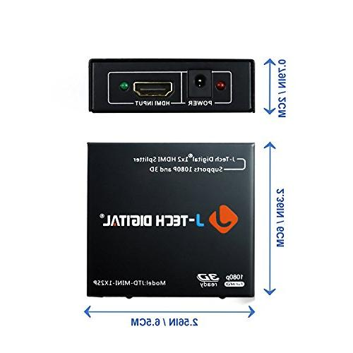 J-Tech Digital 1x2 HDMI Powered for Full & 3D Support