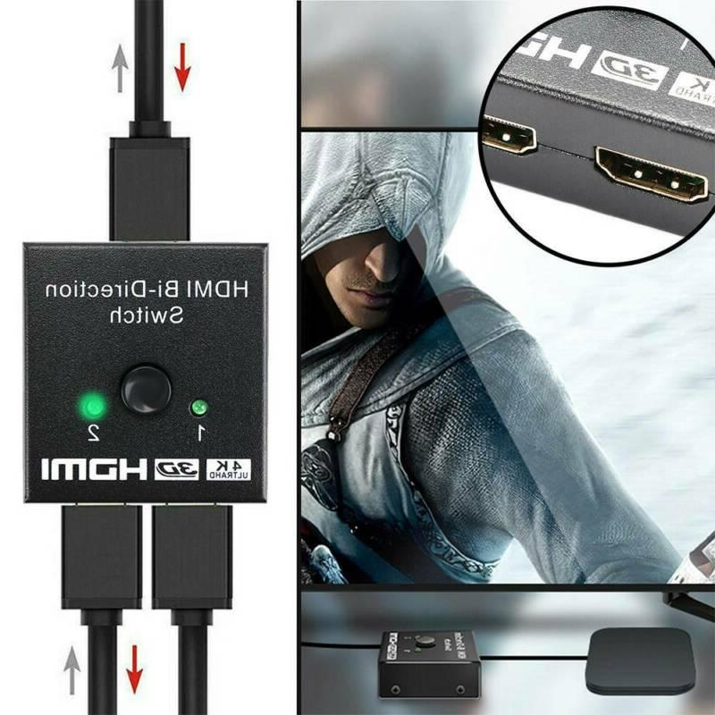 HDMI Splitter BI-Directional Switch 1In2 / 2 Input Output TV