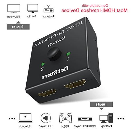 DotStone Bi-Direction 4K HDMI x 1/1 No 2 Ports HDMI Supports Ultra HD 4K 3D 1080P Comes 3 Cable