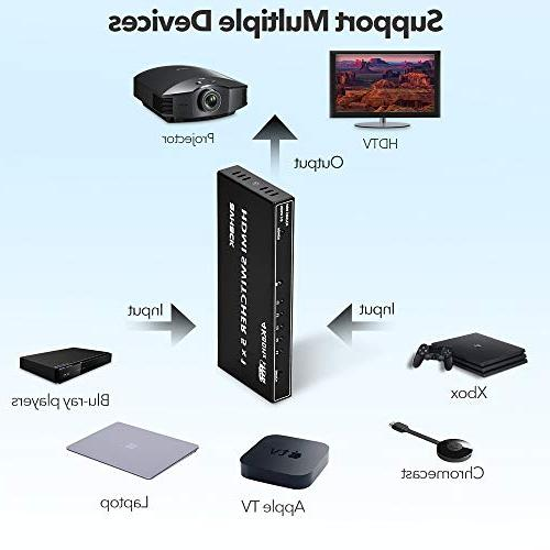 5 Port HDMI Newest 【4K 【Ultra 4K/1080P/3D】【Auto-Switch】 Splitter HDTV/Blu-Ray etc