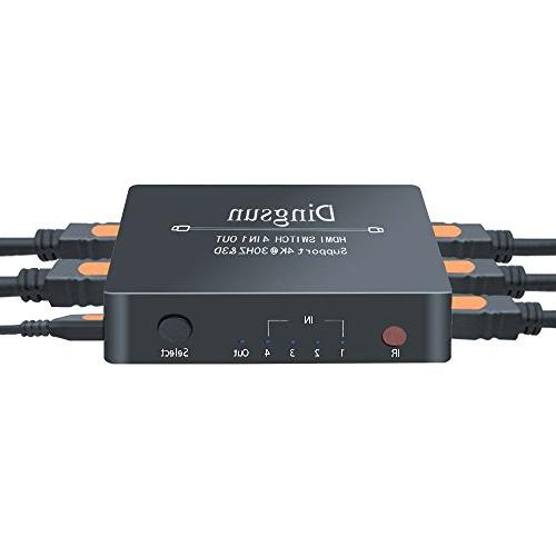 4 Port HDMI 4 Port HDMI with and AC Power Adapter, Switches
