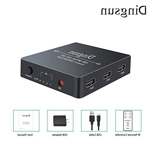 4 Port 4 with Control and AC Power Switches Supports 4K, 3D