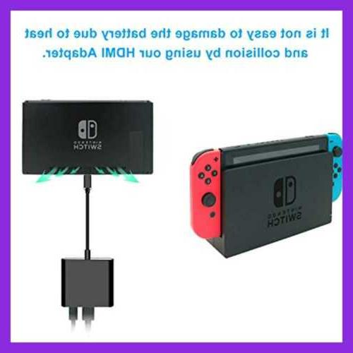 Fastsnail Type Hub Adapter Nintendo Switch Converter Black