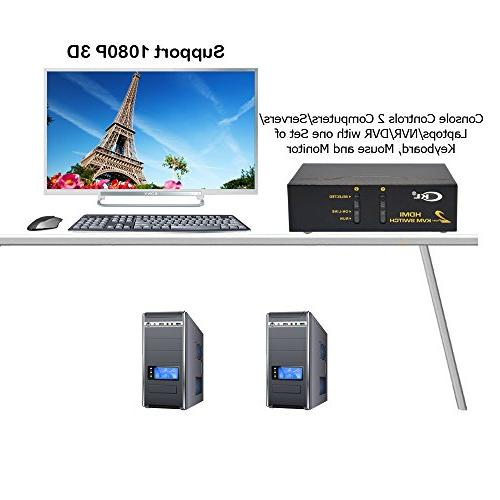CKL USB Switch Monitor Supports 1080P, Auto Scan
