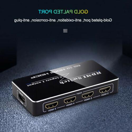 For 1080p 5 HDMI Switch Hub