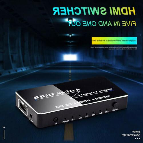 4K 1080p 5 Port HDMI Switch Switcher Selector Splitter Hub I