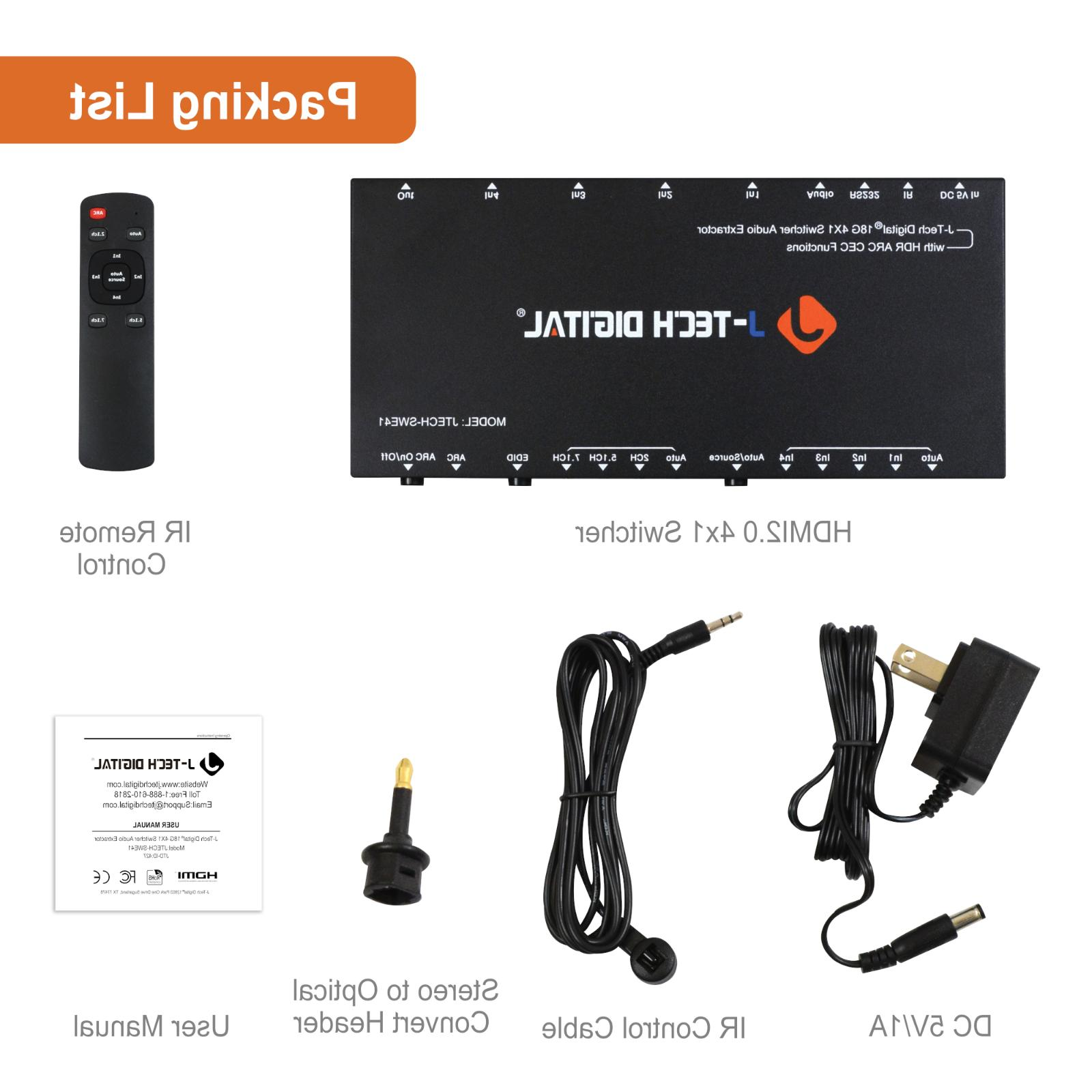 J-Tech Extractor 2.0 4K@60Hz with 18Gbps