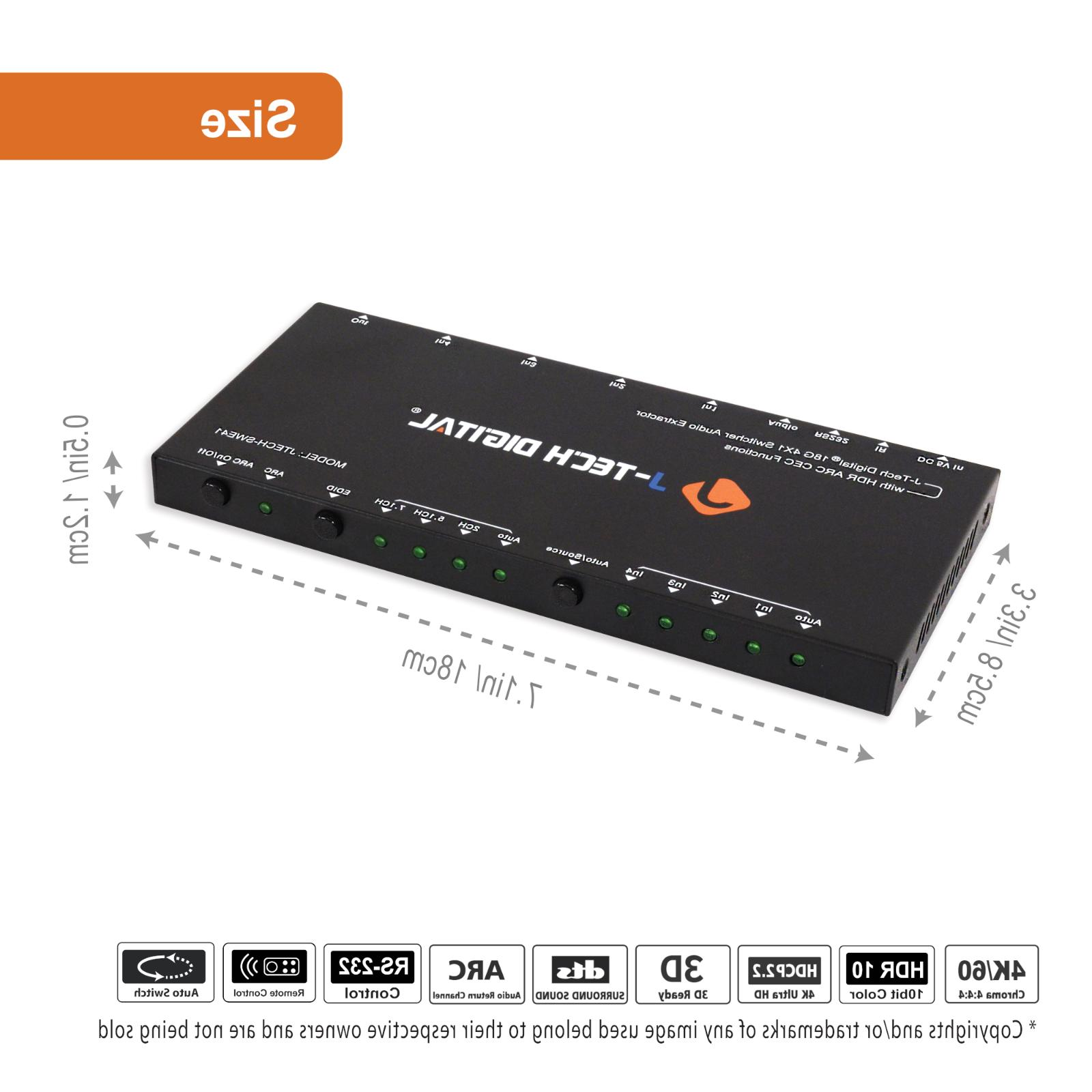 J-Tech HDMI Extractor Switcher 2.0
