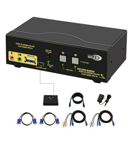 kvm switch 2 and 4 port dual