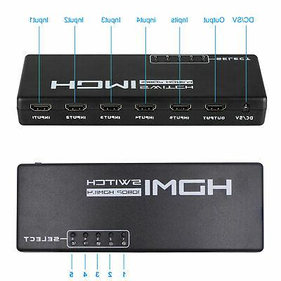 5 HDMI Selector & IR Remote For HDTV
