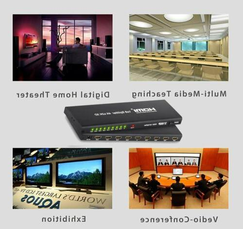 1 In 8 Out HDMI 8 Repeater Hub HD 1080P