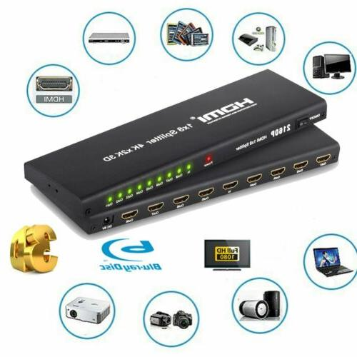 1 8 HDMI Switch 8 Repeater Amplifier 1080P