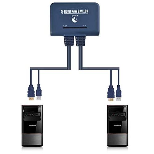 2 Switch HDMI Switcher Com Keyboard Mouse Support