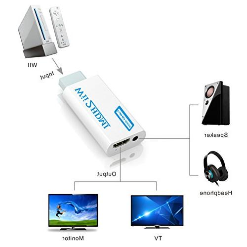 Wii to Gana to hdmi Adapter, to hdmi1080p & 3.5mm Supports Wii Modes