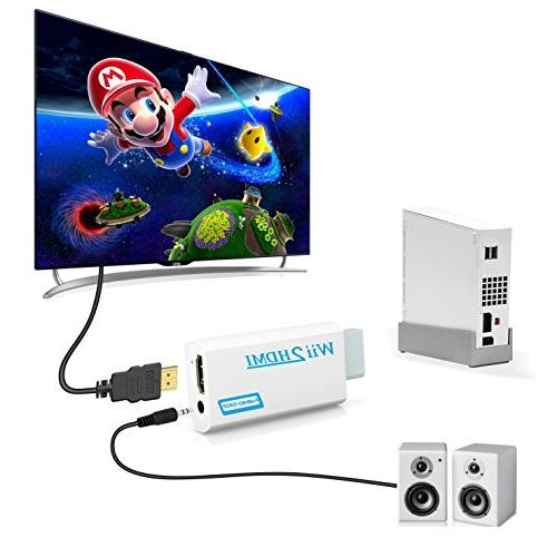 Wii to Gana Adapter, 720p Connector Output Supports All Wii Modes