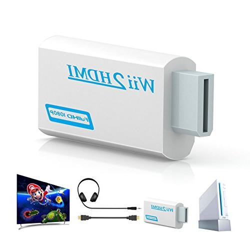 Wii to hdmi Gana Adapter, wii to 720p Output Video & Audio - Supports All Modes